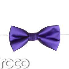 Boys Purple Elasticated Dickie Bow Tie Page Boy Wedding Prom Dickie Bows