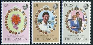 s638413 Gambia - Sc#426-28 MNH