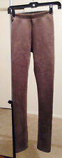 Women / Juniors new BCBG Maxazria sz 2XS XXS brown faux leather stretch leggings