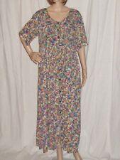Vintage 1990s Gauze Dress Baby Doll Grunge Floral Loose Button Front S/M/L