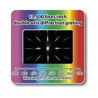 Diffraction Grating Slide Double Axis 13500 lines/in Lamp / Laser Holographic