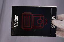 Vivitar Flash 285 HV Owner's Guide (EN) 7212013