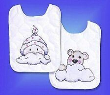 Pink Buggy Bibs Quilted Bibs Stamped Cross Stitch Kit