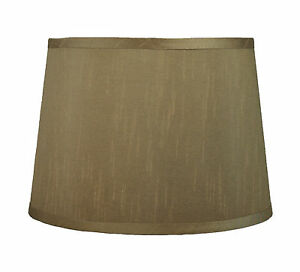 """Urbanest French Drum Lamp Shade,10""""x12""""x8.5"""",Faux Silk, Spider Fitter, 6 Colors"""