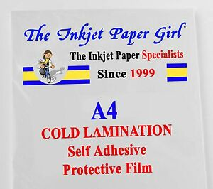 A4 Cold Lamination Double Sided Self Adhesive Protective Film 5 sheets