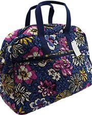 VERA BRADLEY MEDIUM TRAVELER BAG African Violet PATTERN Quilted Luggage 23182
