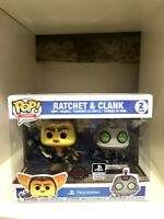 RATCHET & CLANK EXCLUSIVE FUNKO POP SONY PLAYSTATION GAMES 2 PACK