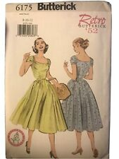 Butterick Retro 1952 Pattern #6175, Dress, Sz 8,10,12