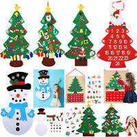 Kids DIY Felt Christmas Tree Santa Claus Ornaments Xmas Gifts Wall Hanging Decor