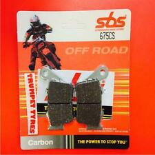 CCM 604E 600 Supermoto 99 > 01 SBS Rear Carbon Silver Brake Pads 675CS