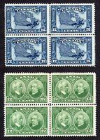 Canada - Scott 145 & 147 - 2 Blocks of 4- MNG