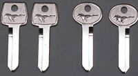 Key-6 A Real Pony Key Blank for 1967 - 93 Ford Mustang Trunk & Ignition set of 4
