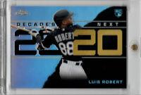 2020 Topps Chrome Update Luis Robert RC Decade's Next Refractor #2 White Sox