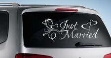 Autoaufkleber HOCHZEIT Aufkleber Just Married EHE Braut & Bräutigam Sticker 004