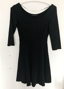 DOROTHY PERKINS Sz 10 38 Womens Dress M S Flare Black Skater A line Tunic Top x