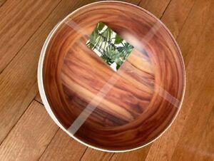 Tommy Bahama Woodgrain Melamine Bowl Set of 4