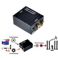 Digital Toslink SPDIF zu Koaxial Analog Audio Konverter Wandler RCA Klinke Kabel