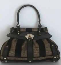 Fendi Borsa Magic Piccola Vellut Striped Satchel Bag NWOT