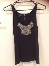 Witchery Black Sleeveless Tank Size M
