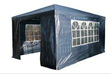 3Mx4M PE Garden Gazebo Marquee Canopy Awning Party Tent Fullsides Blue UK
