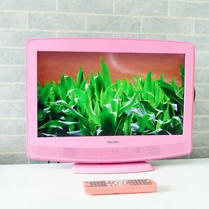 """Bush 19"""" LCD TV with Built-in DVD Player, HD Ready, Digital Freeview - Pink"""