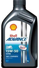 OLIO MOTO 4T SHELL ADVANCE ULTRA SINTETICO 15W50 1 litro