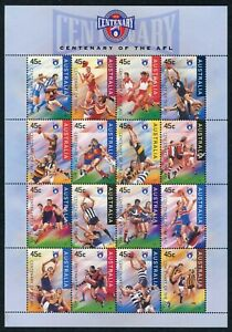 1996 Australia Centenary Of The ALF Sheetlet Of 16 Stamps Mint Never Hinged