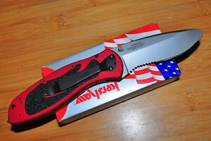 KERSHAW 1675rdst RED Rescue Blur Serrated Assisted Folding Knife JAN 05  USA