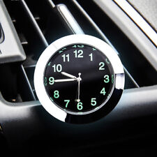 Car Air Vent Clip Clock Luminous Dashboard Auto Interior Quartz Analog Watch Gra