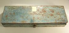 "Giller Tool Company Dallas, TX EMPTY Blue Tool Box Measures 19""x6-1/2""x2-3/16"""