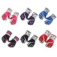 Adjustable Strap Children Winter Warm Kids Ski Snowboard Gloves Mittens