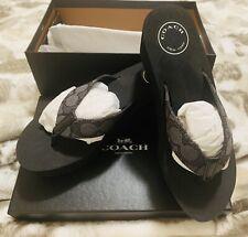 COACH Women Jen Outline Signature Jacquard Black 6.5M 6.5 M BRAND NEW in BOX