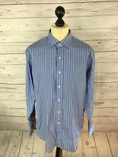 RALPH LAUREN ESTATE Shirt - 17 - Classic Fit - Striped - Great Condition