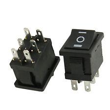 5 X  AC 6A/250V 10A/125V 12V 6 Pin DPDT ON/OFF/ON Rocker Switch 21x15mm