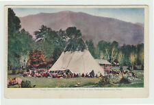 1907 Feast After Death of Chief's Son, Flathead Reservation Mt Montana