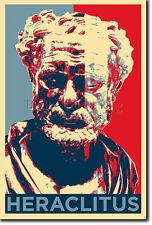 HERACLITUS ART PHOTO PRINT (OBAMA HOPE PARODY) POSTER GIFT GREEK PHILOSOPHY