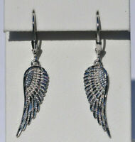 Echt 925 Sterling Silber Ohrringe Flügel Engelsflügel Nr 229