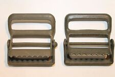 Military Webbing Tongueless Hinge Buckle, 1 1 2 #034;, NOS WWII Era Surplus, Lot of 2