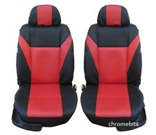 UNIVERSAL FRONT RED LEATHERETTE SEAT COVERS CAMPER CAR VAN TAXI MOTORHOME MPV