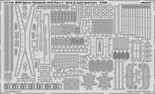 Eduard pe 53149 1/350 hms queen elizabeth 1943 pt 5 pont main batterys trumpeter
