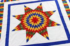Patchwork Rainbow- Lone Star - QUILT TOP - Queen size masterpiece
