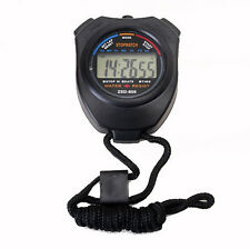 Digital Handheld Sport Stopwatch Stop Watch Alarm Time Timer Counter Chronograph