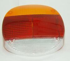 TAIL LIGHT LENS RIGHT REAR RED/AMBER FITS VOLKSWAGEN TYPE1 BUG 1974-1979
