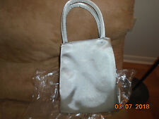 NEW Bloomie's Bloomingdale's Hand Bag Purse Tote Shiny Silver