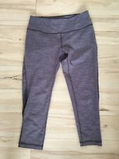 ZELLA Blue grey color Cropped Stretch Mesh Detail Athletic Leggings Sz S