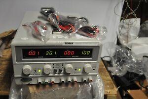 TENMA 72-6615 LABORATORY DC POWER SUPPLY 0-30 VOLT 3 OUTPUT