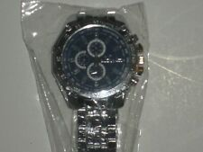 NEW Orlando Mens Quartz Watch with Blue Face and Steel Band & Decorative Dials