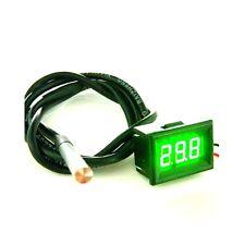 Digital Green LED Thermometer Temperature Panel Meter Waterproof -55-125C Sensor