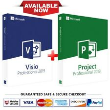 Instant Microsoft Visio Professional + Project Professional 2019 1 PC key!