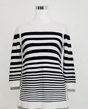Talbots Sweater Striped Pullover 60% Cotton Size XS 2 New